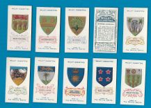 Collectable cigarette cards set Arms of the British Empire